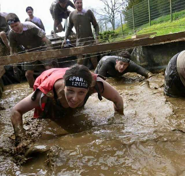 Kathrin Weninger beim Spartan Race im Gatsch