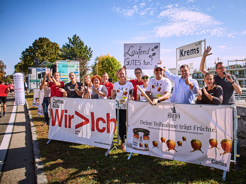 Charity Aktion beim Wachau Marathon 2019