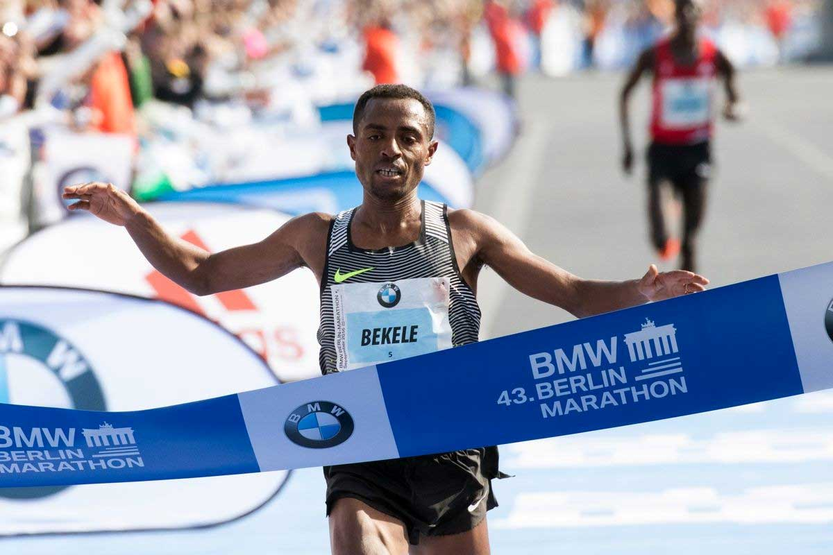 Kenenisa Bekele gewinnt den Berlin Marathon 2019