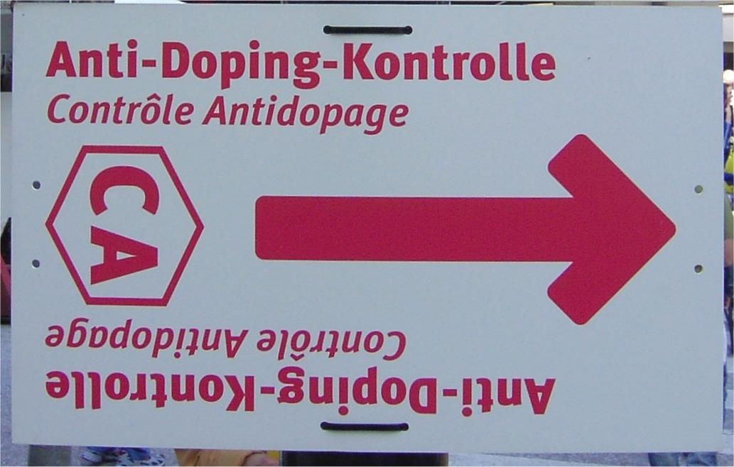 Anti Doping Kontrolle