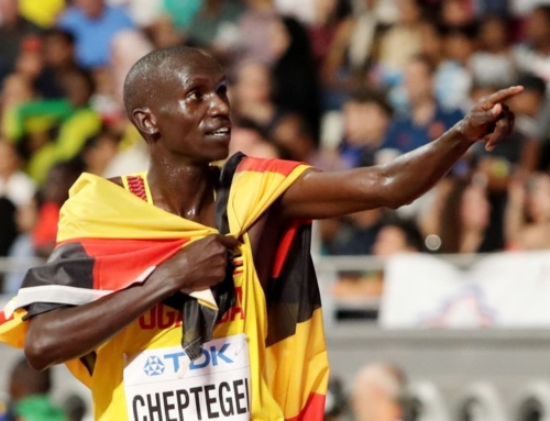Joshua Cheptegei läuft 5.000 Meter Weltrekord